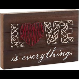 Hallmark Love Is Everything Wooden Plaque Wall